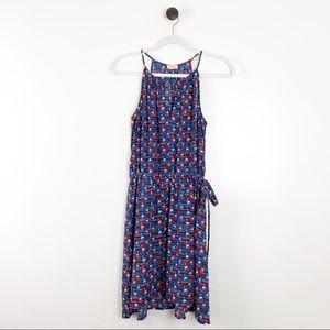 Pixley Sleeveless V-neck Sailboat Print Dress
